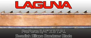 3 4 X 3 Tpi X 115 Bandsaw Blade Laguna Tools Proforce Wood Band Saw Blade