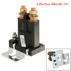 Car Suv Black 4 Pin 500a 12v Amp Dual Battery Isolator Relay On Off Power Switch