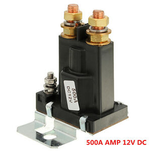 4 Pin Black Over 500a Amp 12v Dc Relay On Off Car Auto Power Switch Plastic