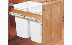 Rav Natural 50qt Double Waste Container Pullout 4wctm2150dm2
