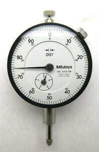 Mitutoyo 2412 08 001 4 0 100 Dial Indicator Old Stock