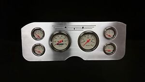1955 1956 1957 1956 1959 Gmc 6 Gauge Dash Cluster Set Billet Insert Shark