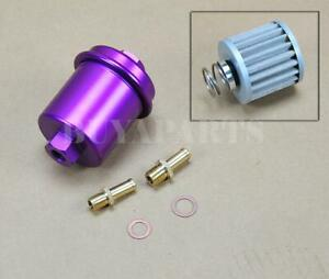 Universal High Performance Racing Fuel Filter 200psi Turbo Charger N a Purple
