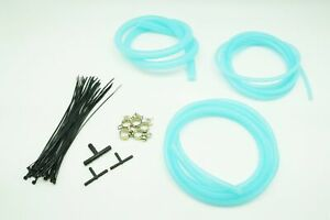 Autobahn88 Engine Silicone Air Vacuum Hose Dress Up Kit Clear Blue Fit Benz