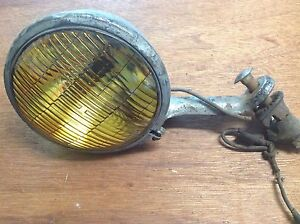 Lqqk Vintage Dietz Amber Fog Lamp Light Auto Truck Car Antique Mount Bracket