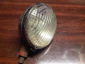 Vintage Farmall International Ihc Vintage Glass Lens Guide Tractor Lamp Light