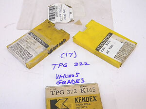 New Surplus 17pcs Kennametal Tpg 322 Various Grades Carbide Inserts