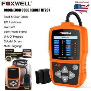 Foxwell Nt201 Car Obd2 Eobd Scanner Can Engine Fault Code Reader Diagnostic Tool