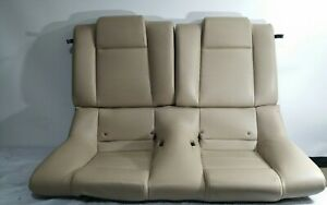 2005 2009 Ford Mustang Coupe Leather Rear Seat Cream Oem