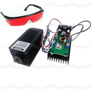 High Power 2 5w 445nm 450nm Blue Laser Module 2500mw Diy Engraver Free Goggles