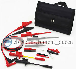 Electronic Specialt Kit Insulation 4mm Banana Test Lead Pierce Spring Probe case