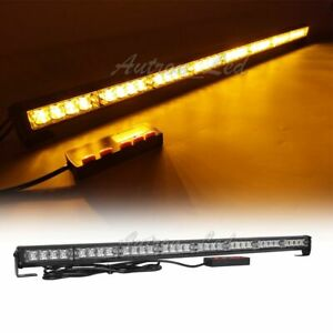 32 Led 35 36 Amber 20 Flash Modes Traffic Advisor Emergency Strobe Light Bar