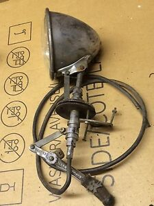 Vintage Portable Light Co Adjustable Spot Light Lamp 1929 Ford Fire Truck Old