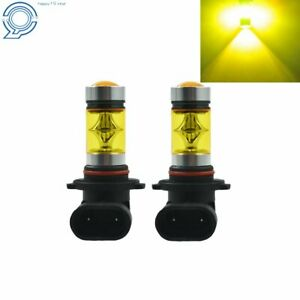 2 Pcs 9005 Hb3 100w Led 4300k Yellow Projector Fog Driving Light Bulbs Us Seller