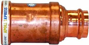 Apollo Valves 10066446 3 inch By 2 inch C X C Copper Reducer Coupling