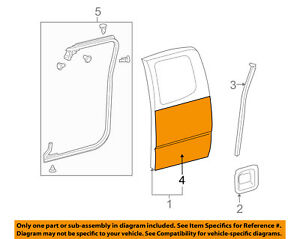 Toyota Oem 05 16 Tacoma door Skin Outer Panel Right 6711304031