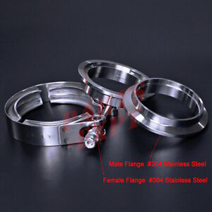 2 2 0 Inch V Band Vband Clamp Stainless Steel Flange Turbo Exhaust Down Pipe