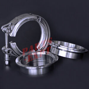 Exhaust Downpipe 2 5inch V band Clamp Stainless Steel Flange Kit Male female