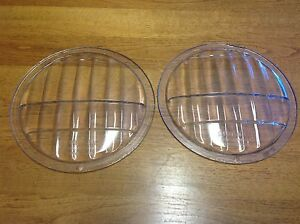 Vintage Pair Mckee Glass Co Sunlight Type D 8 1 4 Headlight Lenses Old