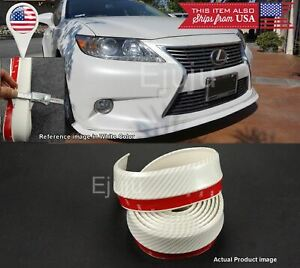 Rubber Glossy White Carbon Ez Bumper Lip Chin Trim Protector For Hyundai Kia