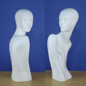 25 Brand New White Head Bust Female Mannequin 1013w