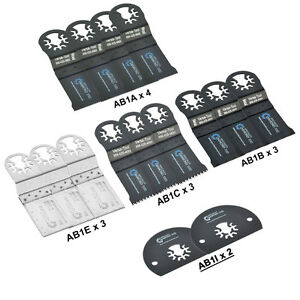Abmtkit1 15 Pcs Universal Oscillating Multi tool Blade Accessory Kit For Dremel