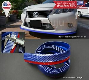 Rubber Glossy Blue Carbon Ez Bumper Lip Chin Trim Protector For Hyundai Kia