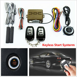 12v Car Alarm Security Start System Keyless Entry Push Button Remote Control Kit