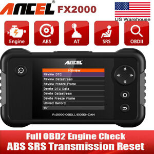 Obd2 Automotive Scanner Engine Transmission Abs Airbag Srs Oil Service Epb Reset