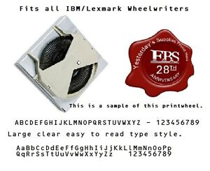 Ibm Lexmark Typewriter Printwheel With Large Clear Letters For All Wheelwriters