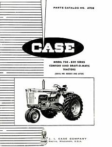 Case 730 Comfort King Dom Tractor Parts Catalog Book Reproduction