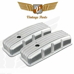 Vintage Big Block Chevy Finned Valve Cover With Breather Hole Pair Vpavcbyaa