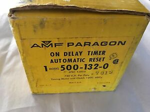 Amf Paragon 1 Model 500 132 0 On Delay Timer Automatic Reset Time Control