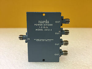 Narda 4312 4 1 To 2 Ghz 30 W 1 25 1 40 Vswr Sma f Coaxial Power Divider