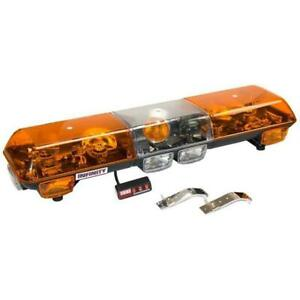 Wolo 7000 A Halogen Emergency Warning Light Bar Amber Lens Roof Mount