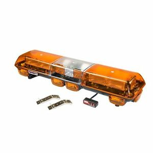 Wolo 7500 a Strobe Emergency Warning Light Bar Amber Lens Roof Mount
