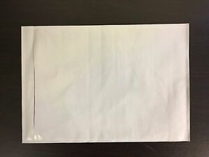 500 7x10 Clear Adhesive Packing Slip Invoice Shipping Label Envelope Pouch Bag