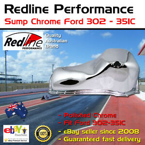 New Redline Sump Oil Pan Chrome Ford 302 351 351c Cleveland