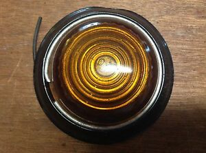 Lqqk Vintage Anthes 721 Amber Glass Marker Clearance Light Travel Trailer Nos