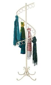 For Sale Floor Spiral Scarf Display Rack Opal Ivory Finished