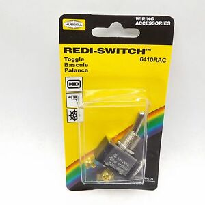 Hubbell 6410rac Spst Heavy Duty 20a 125 277 Vac Toggle Switch