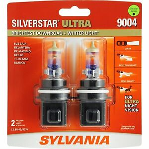 Sylvania Silverstar Ultra 9004su 2 Headlight Bulbs Pair