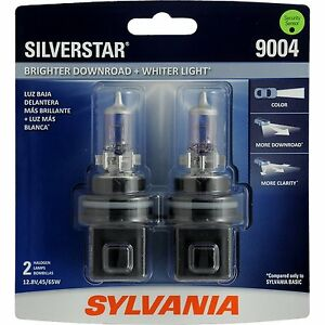 Sylvania Silverstar 9004st 2 Headlight Bulbs Pair