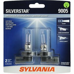 Sylvania Silverstar 9005st 2 Headlight Bulbs Pair
