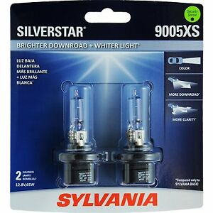 Sylvania Silverstar 9005xsst 2 Headlight Bulbs Pair