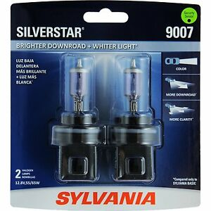 Sylvania Silverstar 9007st 2 Headlight Bulbs Pair