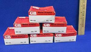Metal Staples For Electrical Wiring Ms 150 Gb 1 2 X 1 6 Boxes Of 100 Usa