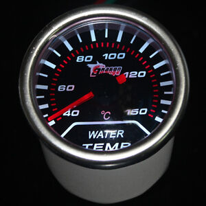 Pointer 2 52mm Car Universal Smoke Len Led Water Temp Temperature Gauge Meter