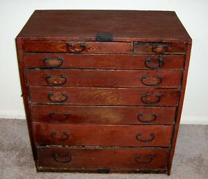 Antique Edo Or Meiji Period Japanese Tansu Chest