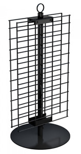 For Sale Counter Spinner Display 2 Sided 21 X 12 Wire Grid Panel black